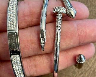 Item 181:  Lot 7 Costume Jewelry - Henri Bendel Rhinestone Bracelet and two others: $54