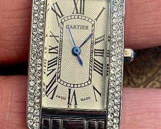 Item 185:  Cartier Style Tank Americaine Watch: $295