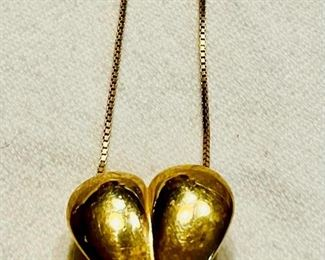 Item 172:  14K Heart on Box Link Chain:  $175