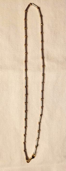 Item 174:  14K Yellow and White Gold Necklace: $395