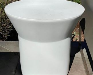 """Item 189:  (2) Crate and Barrel Outdoor Side Tables - 19.75"""" x 18.25"""": $165 ea"""