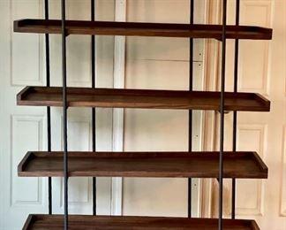 "Item 226:  Crate & Barrel Beckett 5-High Shelf Beckett Unit - 55.25""l x 16""w x 73.5""h:  $550"