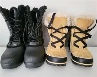 Item 203:  Hunter Boots (left - size 8):  SOLD                                            Item 204:  Sorel Boots (right):  SOLD