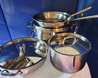 Item 243:  Set of All-Clad Pans:  $325