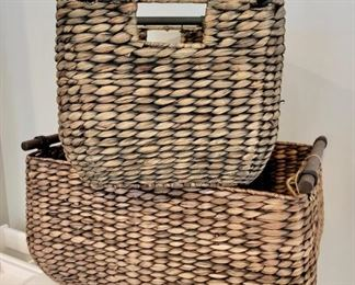 Item 231:  (4) Woven Storage Baskets:  $12/Each
