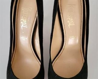 Item 202:  Russell Shoes with Lucite Heel (size 40):  $45