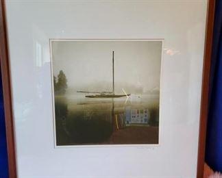 "Item 261:  ""On the Mooring"" Photograph - 28.5""l x 1.75""w x 28.5""h: $125"
