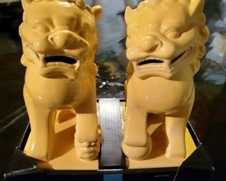 Item 251:  Foo Dog Bookends (new in box!):  $26