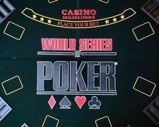 Item 254:  Table Top Poker Set:  $65