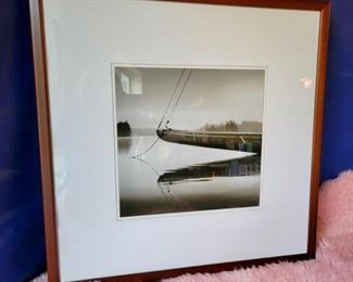 """Item 260:  """"Bow of the Iolem"""" Photograph - 28.5""""l x 1.75""""w x 28.5""""h:  $125"""