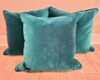 """Item 262:  Lot of Velvet Down Pillows - 24"""" x 24"""":  $42"""