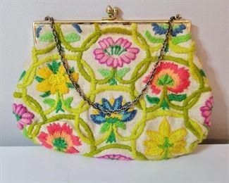 Item 207:  Vintage Floral Bag:  $45