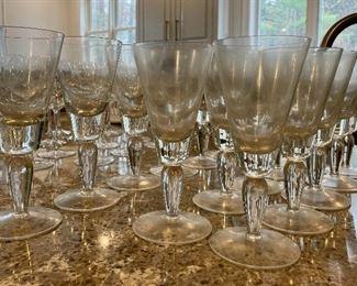 Item 278:  Set of Goblets (left) (6): $12   Smaller Set of Wine (right) (13) $22