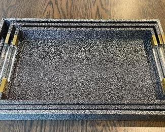 Item 277:  Set of (3) Nesting Trays: $78