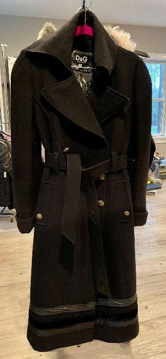 Item 283:  Dolce & Gabbana Coat - needs button:  $145