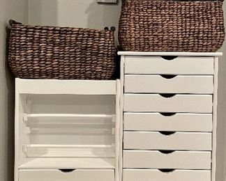 Awesome storage cabinets! Great for art supplies!