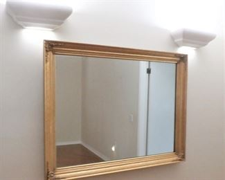 "46"" X 35"" GOLD FRAMED MIRROR - ONE OF SEVERAL"