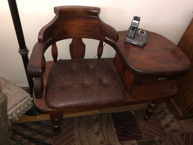 VINTAGE TELEPHONE DESK