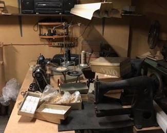 DRESS WORK SHOP IN BASEMENT