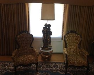 Victorian Pelham Shell and Leckie Arm Chairs MINT