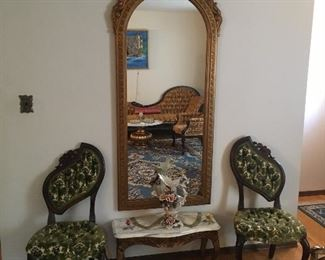 Victorian Pelham Shell and Leckie Side Chairs MINT