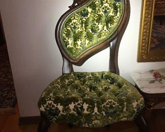 Victorian Pelham Shell and Leckie Side Chair MINT