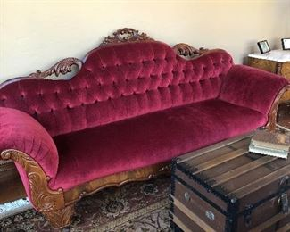 Pre-Civil War couch. Beautifully restored.