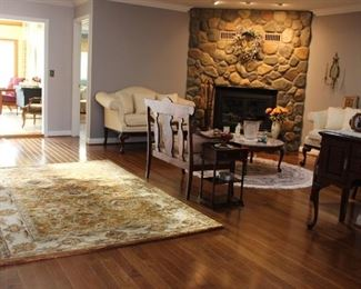 Area Rug and Overview of Great Room