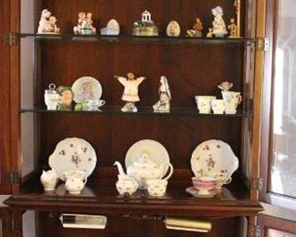 Tea Pot with Cream Sugar, Luncheon Plate  Cup, C  S, Figurines, Tea Pot, Pewabic Tiles