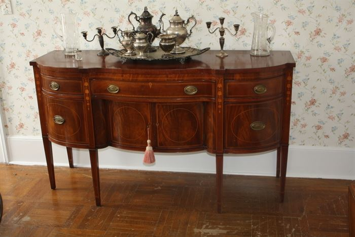 Magnificent mahogany sideboard about 60 years old.  Pristine condition.  Well below market value.