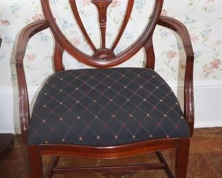 Drexel Mahogany shield back chairs.  2 armchairs and 6 side chairs