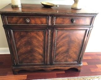 "$295 / Beautiful, console cabinet. Measures: 44"" wide x 20"" deep x 38"" tall. TO PURCHASE, TEXT 404-771-6060."