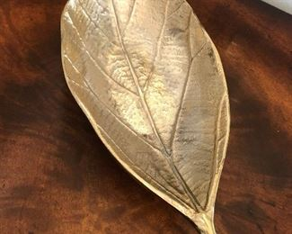 """$22 / Silver leaf decorative metal decor. 12"""" long. TO PURCHASE, TEXT 404-771-6060."""