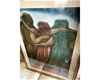 Anedeo Modigliani Signed Art Show Print