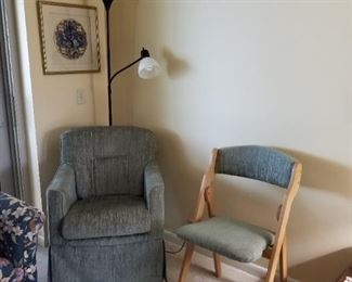 The small chair in this picture has sold.