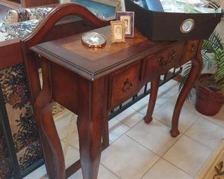 console table, Mirror, Ephemera -