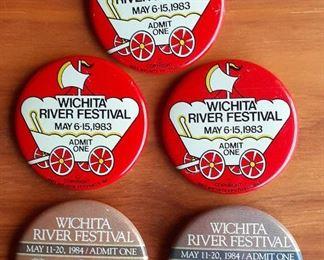 River Festival buttons