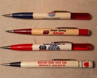 Vintage advertising mechanical pencils
