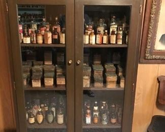 Lots of apothecary bottles