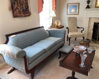 Three-seat Duncan Phyfe sofa