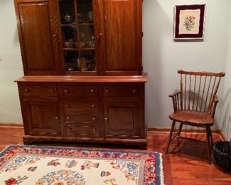 Dining Room  Stickley Hutch, Stickley arm chair(as is)