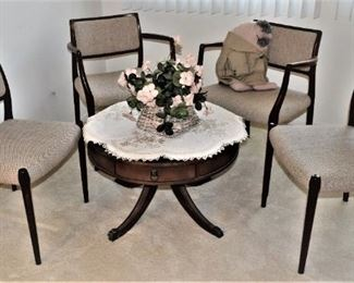 .Danish MidCentury Modern Model 65  Model 80, 2 of each, Dining Chairs by Niels Moller