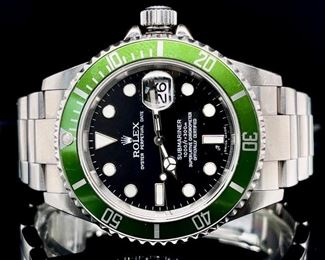 Rolex Submariner Kermit 41mm Watch with Box and Papers 16610V