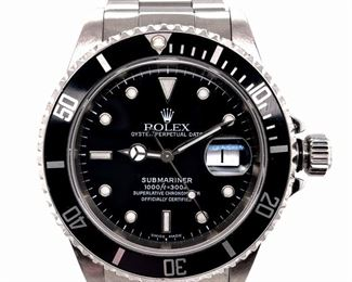 Rolex Submariner Black Dial 41mm Watch 16610