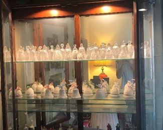 Waterford and Lladro, and assorted bells