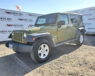 2008 Jeep Wrangler Unlimited Year: 2008 Make: Jeep Model: Wrangler Unlimited Vehicle Type: Multipurpose Vehicle (MPV) Mileage: 141,837 Plate: 699FVM Body Type: 4 Door Wagon Trim Level: X Drive Line: 4WD Engine Type: V6, 3.8L Fuel Type: Gasoline Horsepower: Transmission: VIN #: 1j4ga39158l519381  Features and Notes: Power Windows, Blows Ice Cold AC. One key
