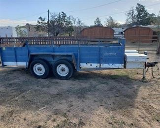 """Lot: 25  14' Trailer Double Axle Trailer Measures Approx: 171""""x 59.5"""" VIN:  unknown Plate:  PE3032 Doc Fee:  $70"""