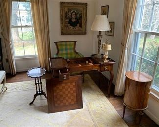 mahogany double-sided game table