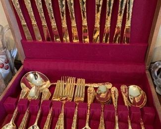 gold plated flatware