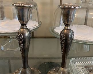 Godinger Silverplate Candle Sticks